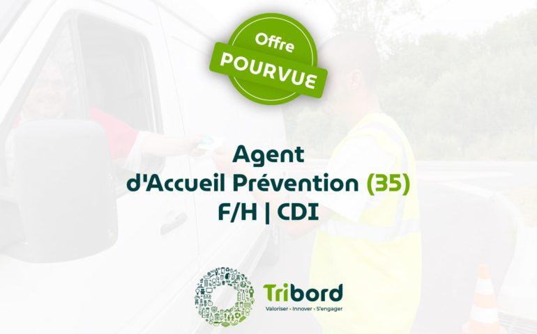 Offre d'emploi Agent d'accueil Prévention pourvue Tribord