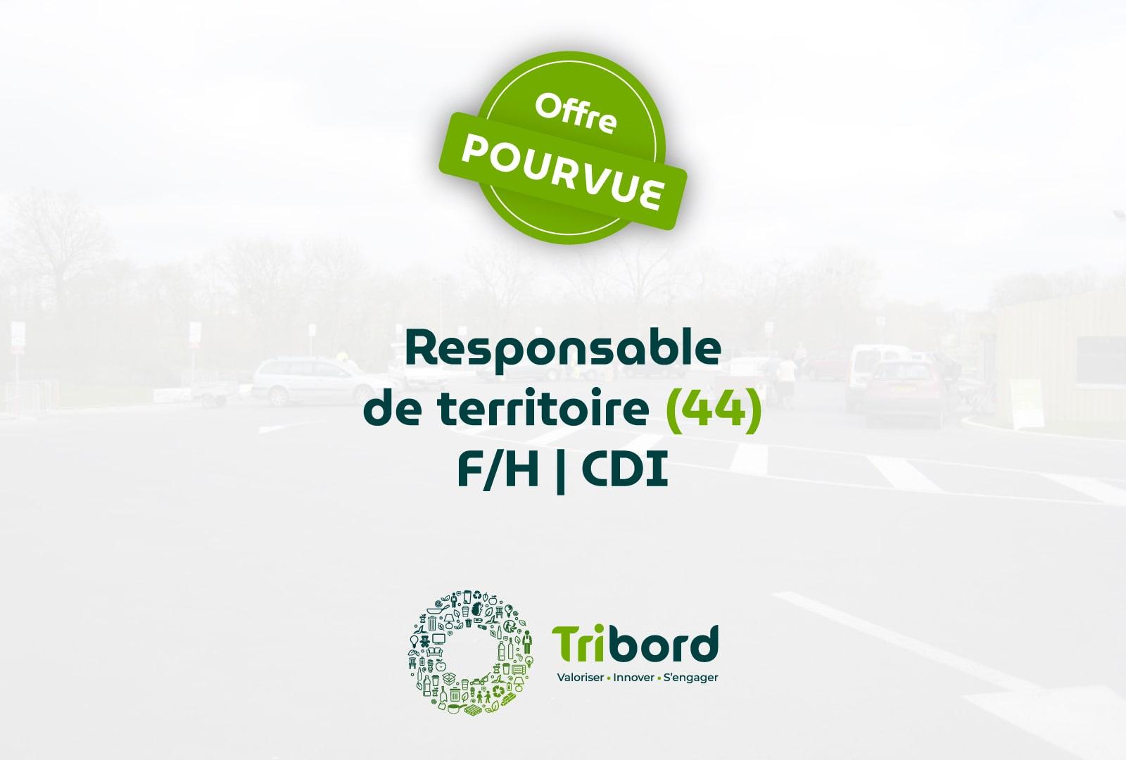 Offre d'emploi Responsable de territoire 44 pourvue Tribord
