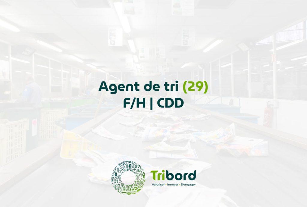 Offre d'emploi Agent de tri 29 Tribord