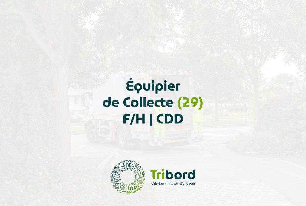Offre d'emploi Équipier de collecte 29 Tribord