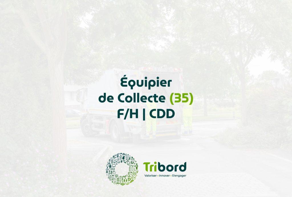 Offre d'emploi Équipier de collecte 35 Tribord