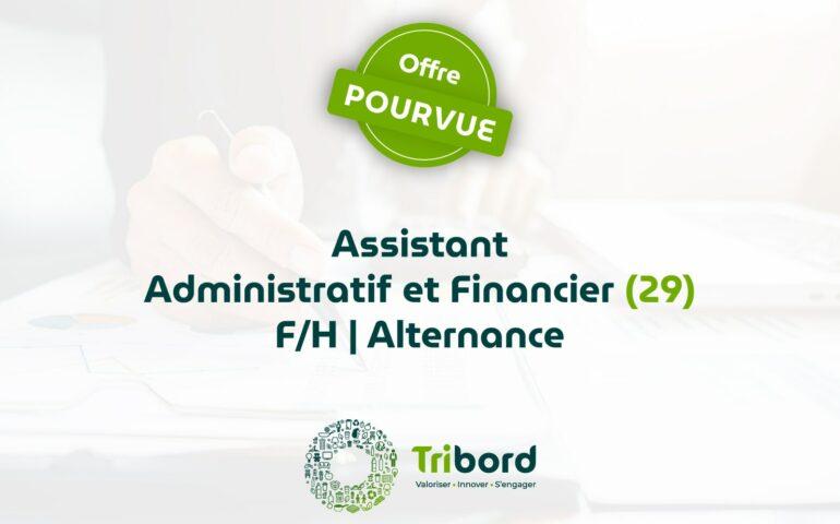 Offre Assistant Administratif et financier en Alternance (29) pourvue